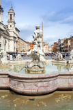 The Moor Fountain (Fontana Del Moro), Piazza Navona, UNESCO World Heritage Site, Rome, Lazio Photographic Print by Nico Tondini