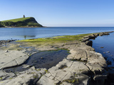 Rock Ledges and Clavell Tower in Kimmeridge Bay, Isle of Purbeck, Jurassic Coast Photographic Print by Roy Rainford