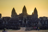 Angkor Wat at Sunset, UNESCO World Heritage Site, Siem Reap Province, Cambodia, Indochina Photographic Print by Jason Langley