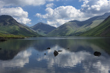 Great Gable, Lingmell, and Yewbarrow, Lake Wastwater, Wasdale Photographic Print by James Emmerson