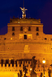 Castel Sant'Angelo and Statues of Ponte Sant'Angelo, UNESCO World Heritage Site, Rome, Lazio, Italy Photographic Print by Nico Tondini