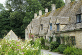 Typical Cotswold Houses in the Village of Bibury, the Cotswolds, Gloucestershire Photographic Print by Alex Robinson