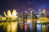 The Lotus Flower Shaped Artscience Museum Overlooking Marina Bay Photographic Print by Fraser Hall