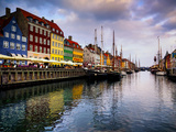 Sunset at Nyhavn, Copenhagen, Denmark, Scandinavia, Europe Photographic Print by Jim Nix
