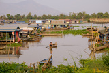 Floating Village of Khmer Fishermen, Kampong Chhnang, Cambodia, Indochina, Southeast Asia, Asia Photographic Print by Nathalie Cuvelier
