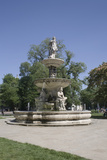 Deak Ferenc Ter Park with Centrepiece Fountain, Budapest, Hungary, Europe Photographic Print by Julian Pottage