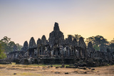 Prasat Bayon Temple Ruins at Sunrise, Angkor Thom, UNESCO World Heritage Site Photographic Print by Jason Langley