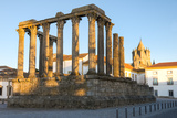Roman Temple of Diana in Front of the Santa Maria Cathedral, UNESCO World Heritage Site, Evora Photographic Print by G&M Therin-Weise