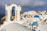 The White of the Church and Houses and the Blue of Aegean Sea as Symbols of Greece, Oia, Santorini Photographic Print by Roberto Moiola