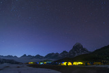 Ama Dablam Base Camp in the Everest Region Glows at Twilight, Himalayas, Nepal, Asia Photographic Print by Alex Treadway