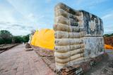 Phra Noon Reclining Buddha at Wat Lokayasutharam, Ayutthaya, Thailand, Southeast Asia, Asia Photographic Print by Alex Robinson