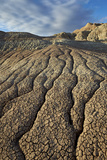 Cracks in Eroded Badlands, Badlands National Park, South Dakota Photographic Print by James Hager