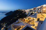 View of the Aegean Sea from the Typical Greek Village of Firostefani at Dusk, Santorini, Cyclades Photographic Print by Roberto Moiola