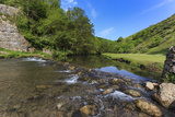 Weir, River Dove, Dovedale and Milldale in Spring, White Peak, Peak District Photographic Print by Eleanor Scriven