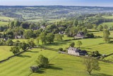 Thorpe Village, Elevated View from Thorpe Cloud, Spring, Near Dovedale, Peak District Photographic Print by Eleanor Scriven