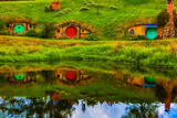 Hobbit Houses, Hobbiton, North Island, New Zealand, Pacific Photographic Print by Laura Grier