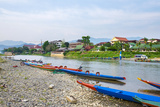 Nam Song River in Vang Vieng, Vientiane Province, Laos, Indochina, Southeast Asia, Asia Photographic Print by Jason Langley