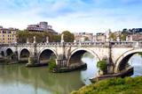 Ponte Sant'Angelo, Tiber River, Rome, Lazio, Italy, Europe Photographic Print by Nico Tondini