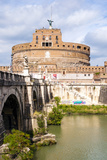 Castel Sant'Angelo, Ponte Sant'Angelo and Tiber River, UNESCO World Heritage Site, Rome, Lazio Photographic Print by Nico Tondini