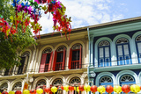 Restored and Colourfully Painted Old Shophouses in Chinatown, Singapore, Southeast Asia, Asia Photographic Print by Fraser Hall