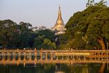 Shwedagon, Kan Daw Gyi Lake and Park, Old City, Yangon (Rangoon), Myanmar (Burma), Asia Photographic Print by Nathalie Cuvelier