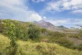 View of the Haze around the Peak of Soufriere Hills Volcano, Montserrat, Leeward Islands Photographic Print by Roberto Moiola