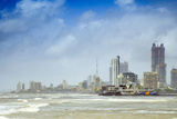 The Haji Ali Mosque and the Skyline of Central Mumbai under Monsoon Seas, Mumbai (Bombay) Photographic Print by Alex Robinson