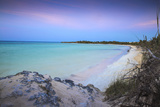 View of Playa Larga at Sunset, Cayo Coco, Jardines Del Rey, Ciego De Avila Province, Cuba Photographic Print by Jane Sweeney