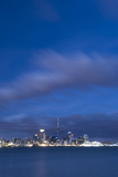 Auckland Skyline at Night Seen from Devenport, Auckland, North Island, New Zealand, Pacific Photographic Print by Matthew Williams-Ellis