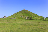 Thorpe Cloud, a Conical Hill with Hawthorns in Blossom and Barn, Dovedale Photographic Print by Eleanor Scriven