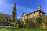 St. Peter's Church and House on Village Green, Edensor, Chatsworth Estate Photographic Print by Eleanor Scriven