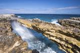 Waves in the Natural Arches of Limestone Devil's Bridge, Antigua, Antigua and Barbuda Photographic Print by Roberto Moiola