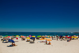 View of Beachgoers, Camps Bay, Cape Town, South Africa, Africa Photographic Print by Laura Grier