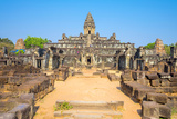 Prasat Bakong Temple Ruins, Roluos, UNESCO World Heritage Site, Siem Reap Province, Cambodia Photographic Print by Jason Langley