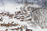 Snowy Woods Frame the Typical Alpine Village and Ski Resort, Bettmeralp, District of Raron Photographic Print by Roberto Moiola