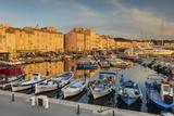 Warm Evening Sunlight Illuminating the Port of Saint Tropez, Var, Provence Photographic Print by Chris Hepburn