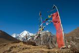 Prayers Flags on the Lasa-Gasa Trekking Route, Thimpu District, Bhutan, Asia Photographic Print by Alex Treadway