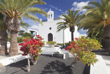 Iglesia De San Isidro Labrador Church, Uga, Lanzarote, Canary Islands, Spain, Europe Photographic Print by Markus Lange