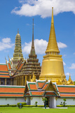 Spires of the Temple of the Emerald Buddha (Wat Phra Kaew), Grand Palace Complex, Bangkok Photographic Print by Jason Langley