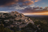 Houses and Buildings of Gordes as They Spiral Up around Rock Plateau High Above Luberon Photographic Print by Garry Ridsdale