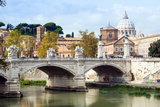 Ponte Vittorio Emanuele Ii over the River Tiber, Rome, Lazio, Italy, Europe Photographic Print by Nico Tondini
