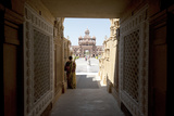 Entrance to the Jain Swaminarayan Temple, Gondal, Gujarat, India, Asia Photographic Print by Annie Owen