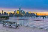 New York Skyline of Manhattan, Lower Manhattan and World Trade Center Photographic Print by Alan Copson