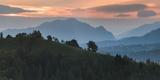 Carpathian Mountains Landscape at Sunrise Near Bran Castle, Transylvania, Romania, Europe Photographic Print by Matthew Williams-Ellis