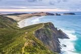 Te Werahi Beach at Sunrise, with Te Paki Coastal Track Path Visible, Cape Reinga Photographic Print by Matthew Williams-Ellis