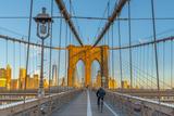 Manhattan, Brooklyn Bridge over East River, Lower Manhattan Skyline Photographic Print by Alan Copson