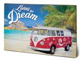 VW Living the Dream Træskilt