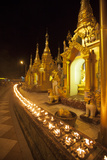 Oil Lamps, Shwedagon Pagoda, Yangon (Rangoon), Myanmar (Burma), Asia Photographic Print by Colin Brynn