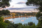 Russell at Sunset, Bay of Islands, Northland Region, North Island, New Zealand, Pacific Photographic Print by Matthew Williams-Ellis