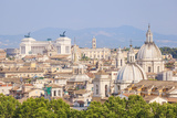 Churches and Domes of the Rome Skyline Showing Victor Emmanuel Ii Monument in the Distance, Rome Photographic Print by Neale Clark